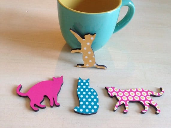 4 cats magnet