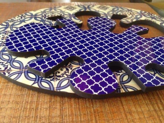 2 en 1 Salvamanteles | Almohadilla caliente se divide en 2 | superficie decorativa de piñas