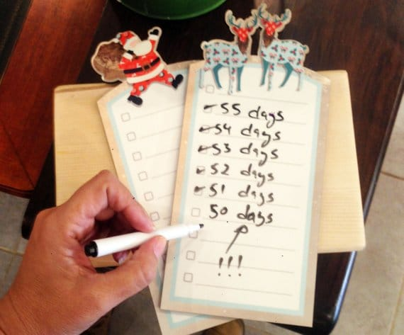 Reindeer To Do List board