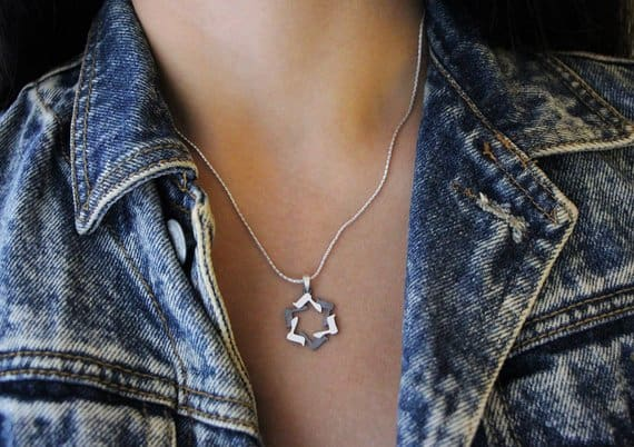 DALET Silver magen david Star of david Jewish star