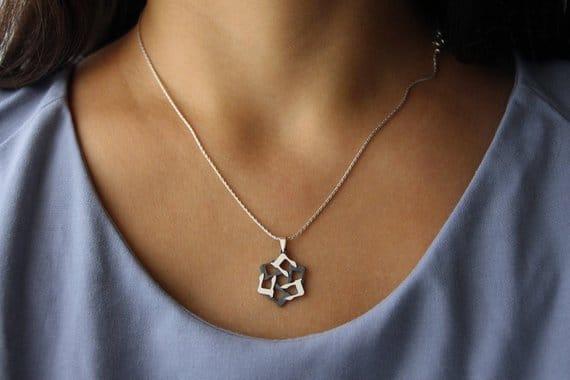 Het Silver magen david Star of david Jewish star