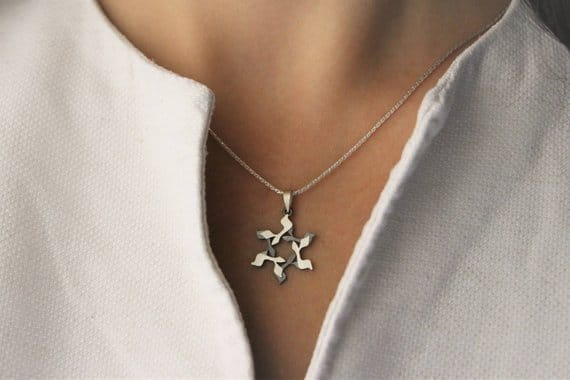 GIMEL Silver magen david Star of david Jewish star