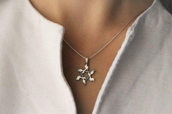 GIMEL Silver magen david Star of david Jewish star