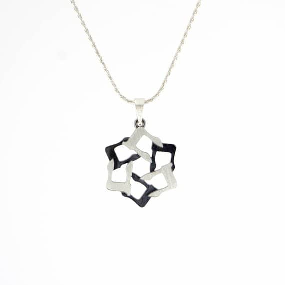Het Silver magen david Star of david Jewish star