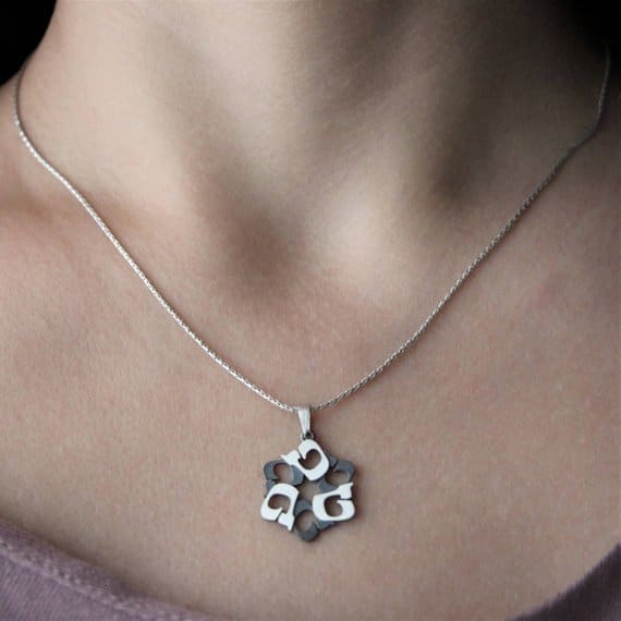 TET Silver magen david Star of david Jewish star