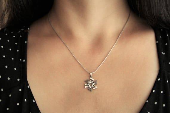 Kaf Silver magen david Star of david Jewish star