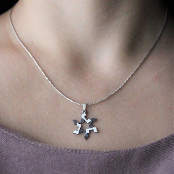 PEJ Silver magen david Star of david Jewish star
