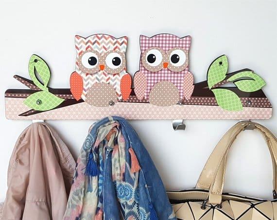 Purple Owl wall hanger