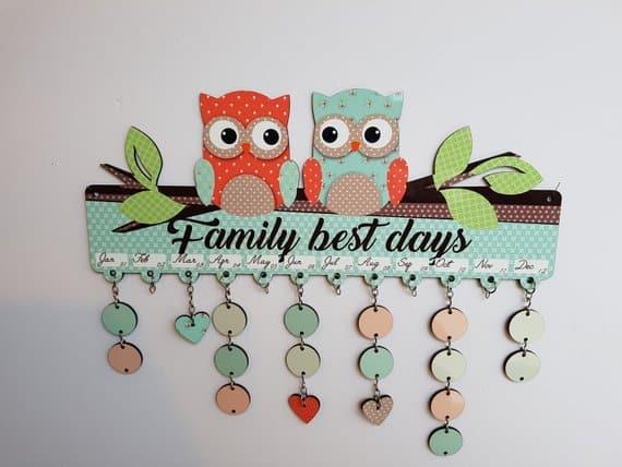 Family Birthday Calendar