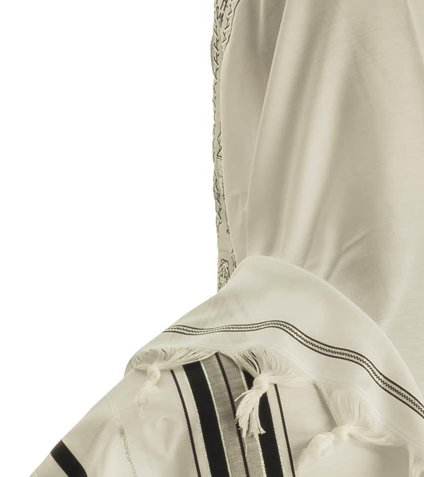 Acrylic Tallit prayer shawls (Black Silver)