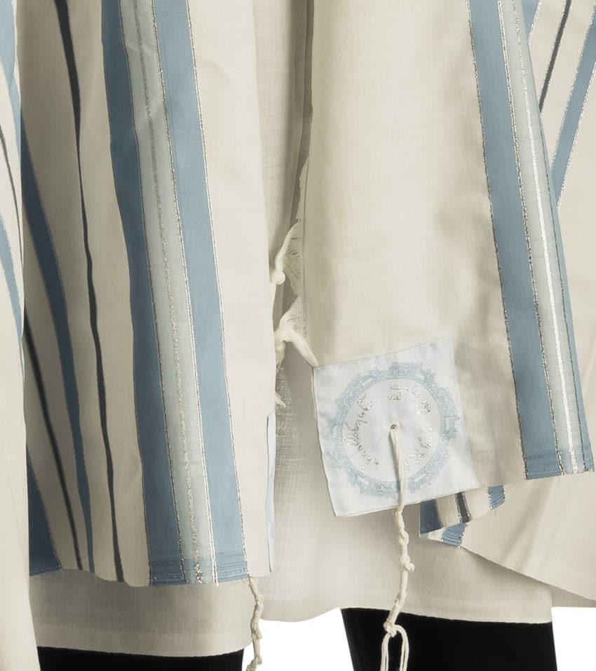 Morden Hermon Tallit - Light Blue and Silver