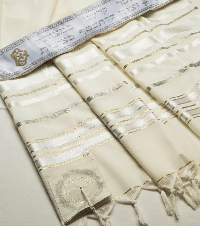 Hermon Tallit Silver and Gold