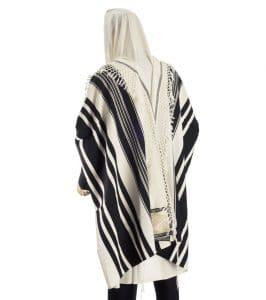 Talit Temani (tallit de estilo yemenita) (Especial - Seis filas tejiendo)
