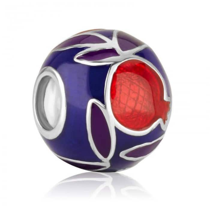 Marina Jewelry Pomegranate Sterling Silver and Enamel Charm