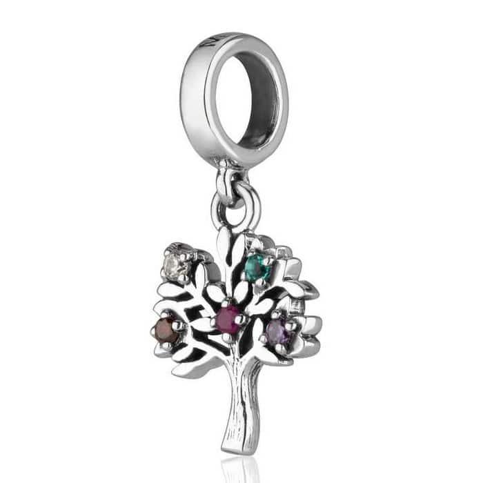 Joyeria Marina Dije El Arbol de la vida plata esterlina 925 con cristales de colores