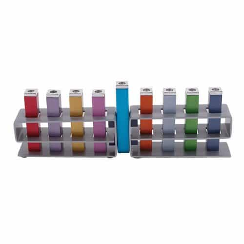 Changeable Branches Hanukkah Menorah - - Multicolor