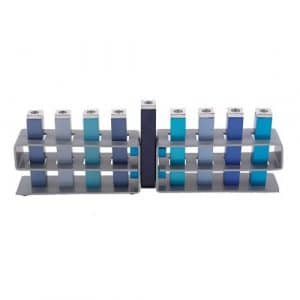 Changeable Branches Hanukkah Menorah  - Blue