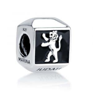 Marina Jewelry Lion of Judah Bead Charm with Onyx
