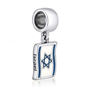 Marina Jewelry Israel Flag Charm