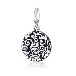 Marina Jewelry Silver Ani Ledodi Circle Pendant Charm