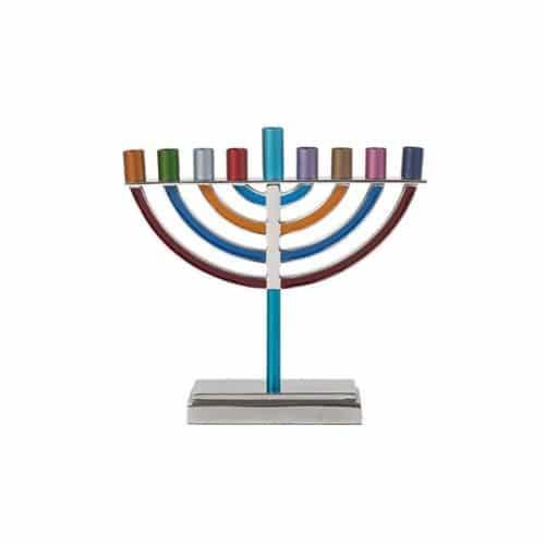 Classic Hanukkah Menorah - Multicolor
