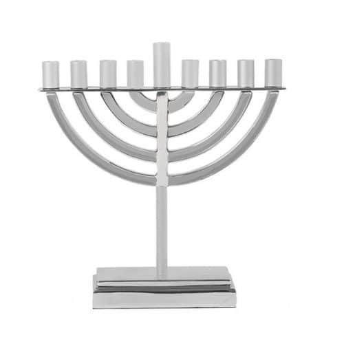 Large Classic Hanukkah Menorah - Natural