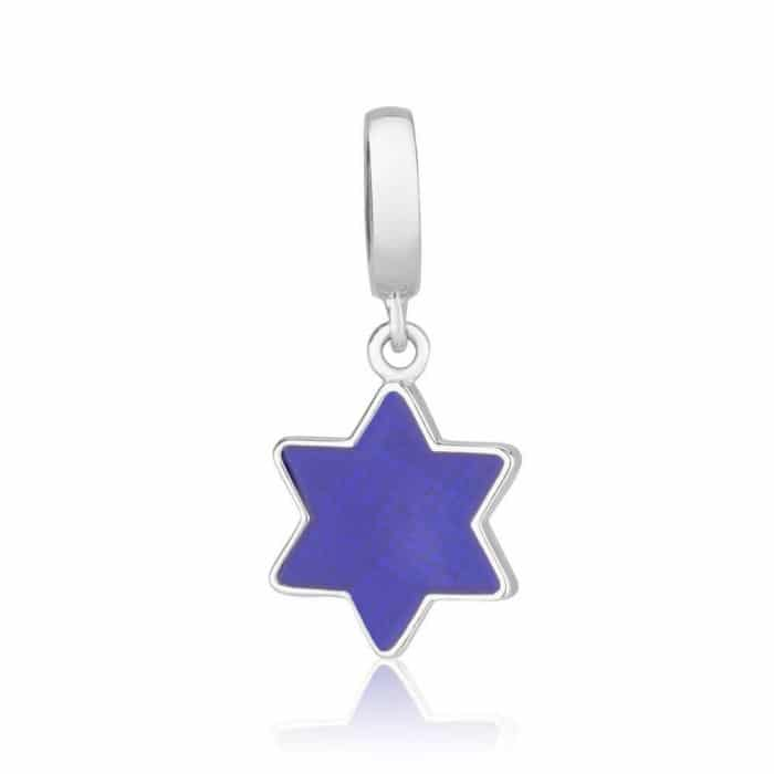 Marina Jewelry Purple Star of David Sterling Silver and Enamel Charm