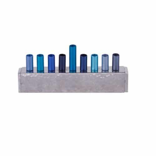 Hanukkah Menorah - Strip - Blue