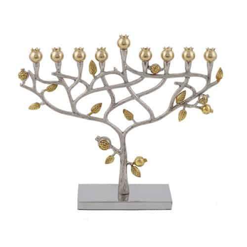Hanukkah Menorah - Pomegranates Tree