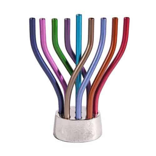 Hanukkah Menorah - Flame - Multicolor