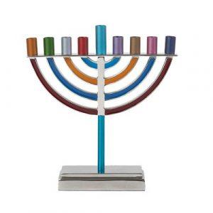 Menorah de Hanukkah Clásico Grande - Multicolor