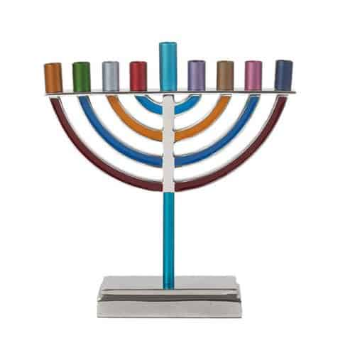 Large Classic Hanukkah Menorah - Multicolor