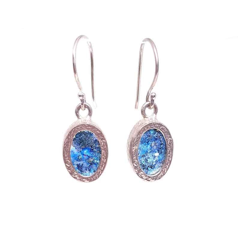 Roman Glass 925 Sterling Silver Earrings