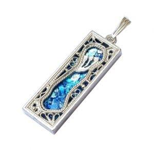 925 Silver Mezuzah Pendant Necklace