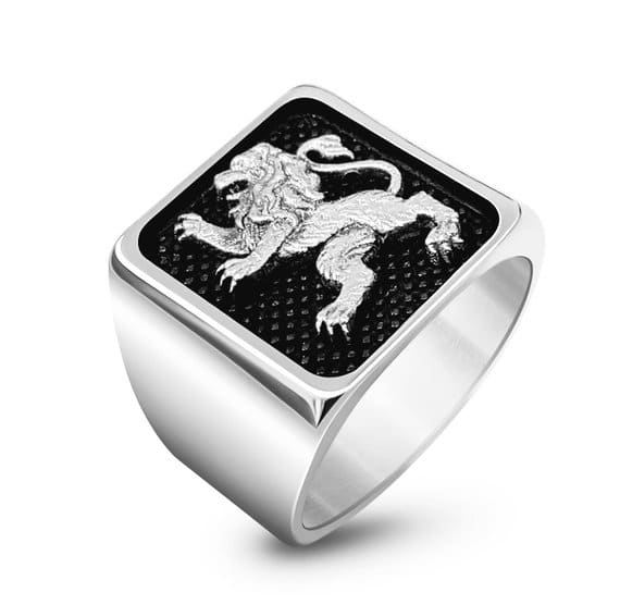 925 Silver Lion of Judah Ring