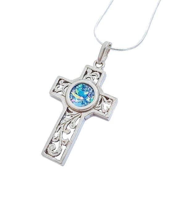 925 Silver Jerusalem Cross, Israel Christian Jewelry,Holy Land Cross