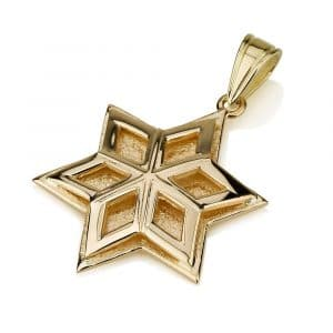 14K Gold Overlaid Star of David Pendant