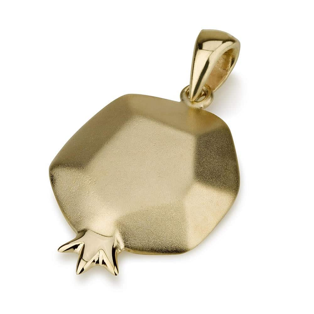 14K Gold Pomegranate Pendant
