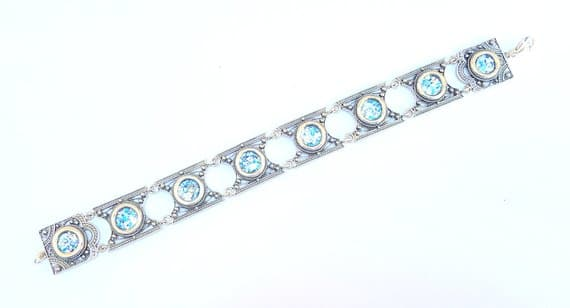 925 Sterling Yemenite Roman Glass Bracelet