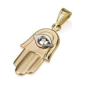 Oro 14q Protección Hamsa y Mal de Ojo