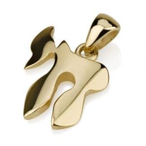 14K Gold Classic Chai Pendant