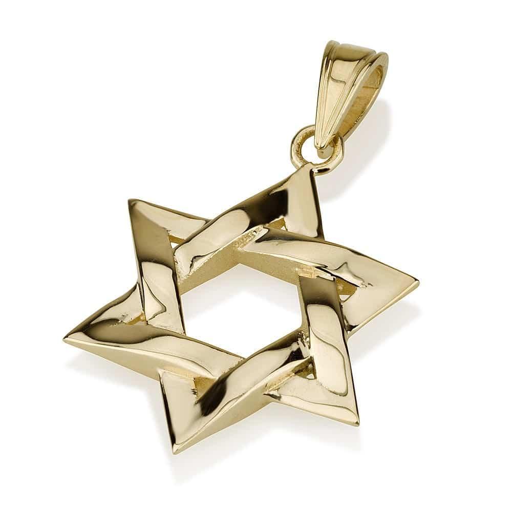 Estrella de David Entrelazada de Oro 14K