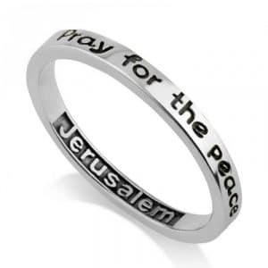 925 Sterling Silver Peace of Jerusalem Ring