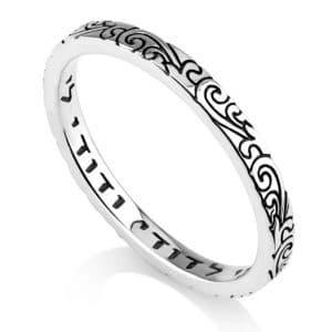 Sterling Silver Swirls Ring with Ani Ledodi