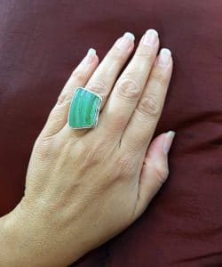 Adjustable Ring 925 Sterling Silver Roman Glass Ring Green Ring ,Roman Glass fragment