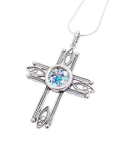 Collar con Colgante de Cruz Romana de Plata 925 y Filigrana, Cruz de Plata 925, Cruz de Filigrana