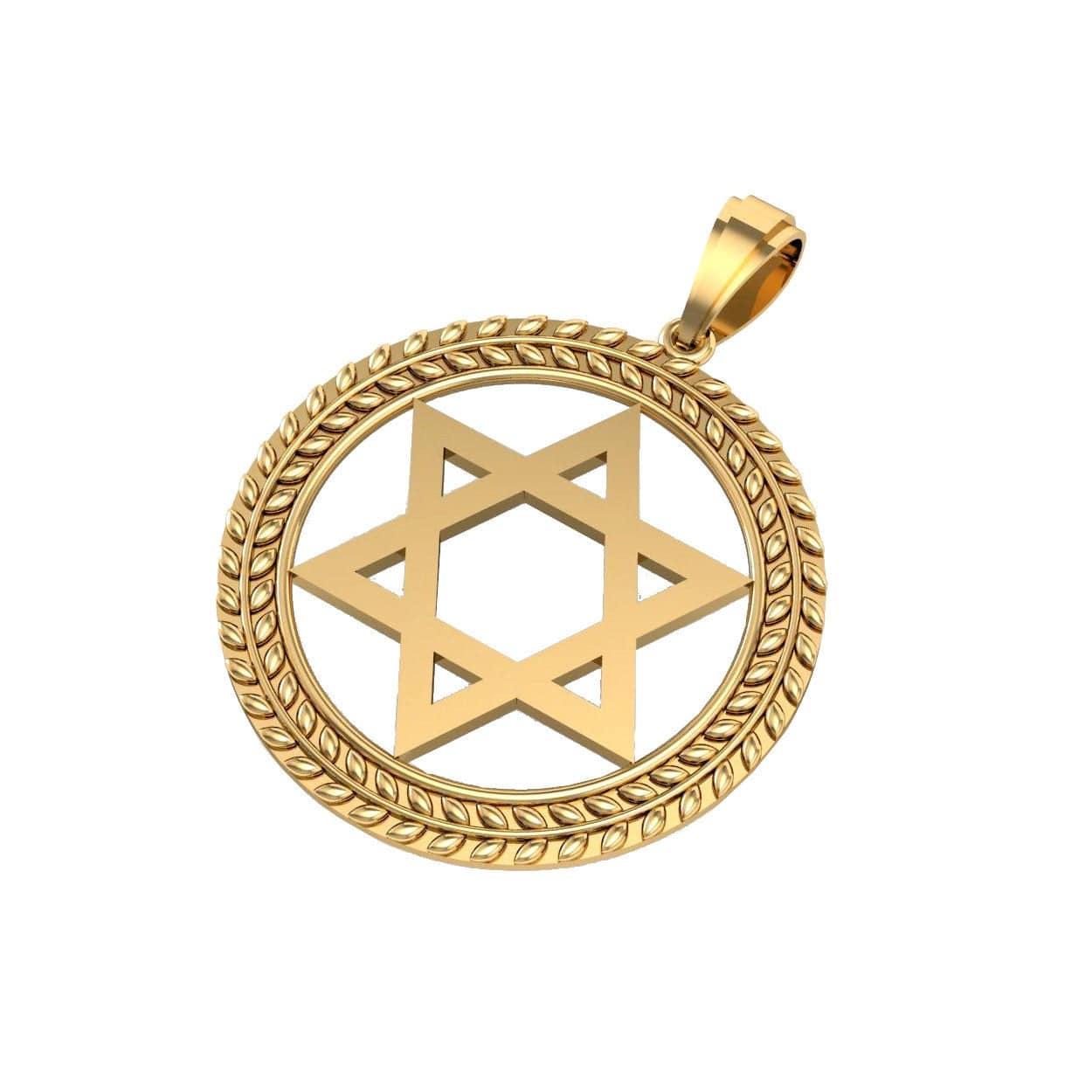Colgante Estrella de David de Oro de 14k, Collar Estrella de David de Oro