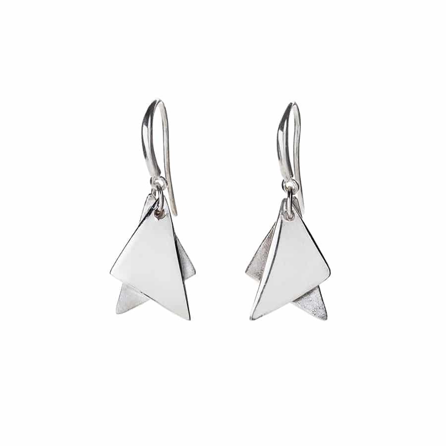 Star of David Silver Earrings