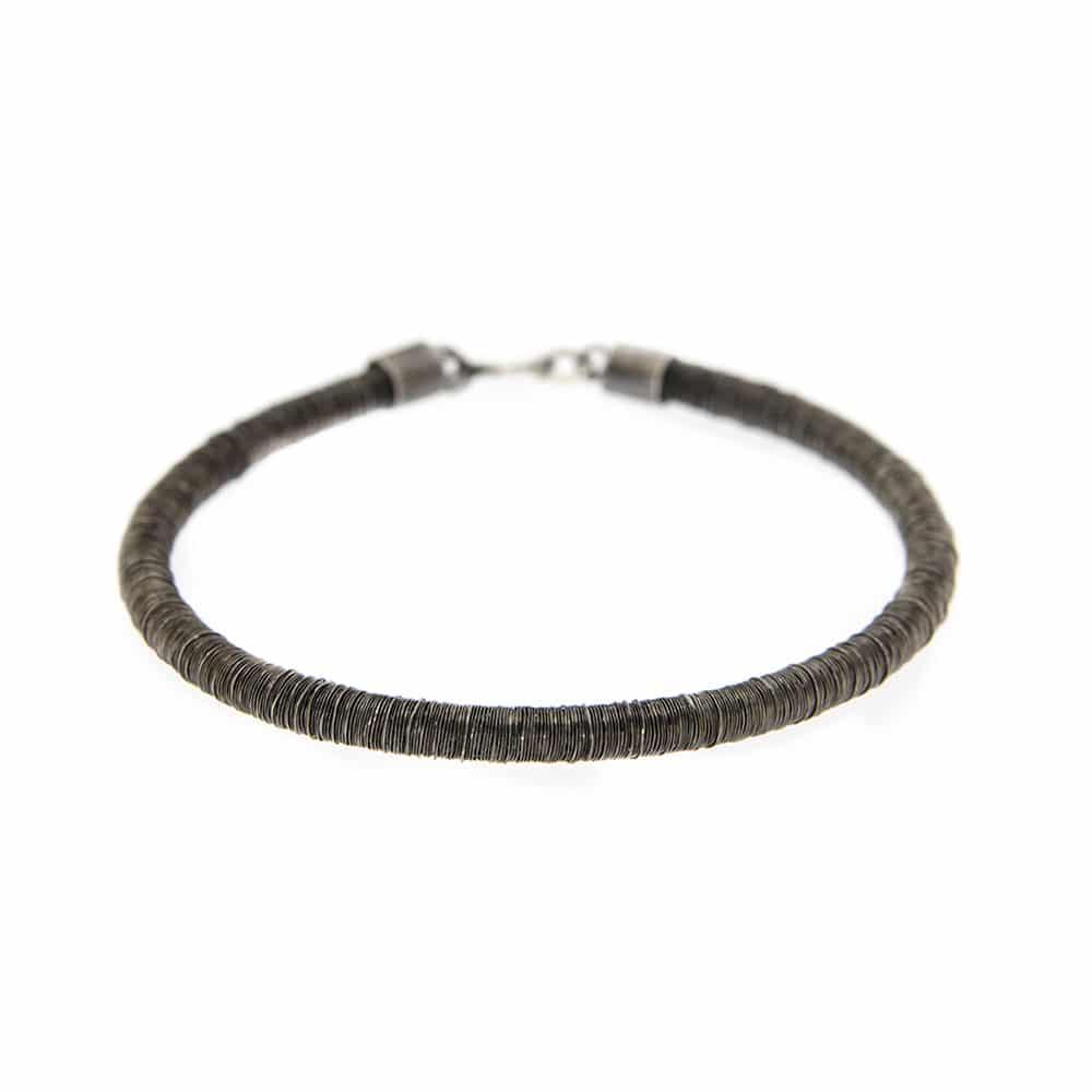 Black Sterling Silver Bracelet