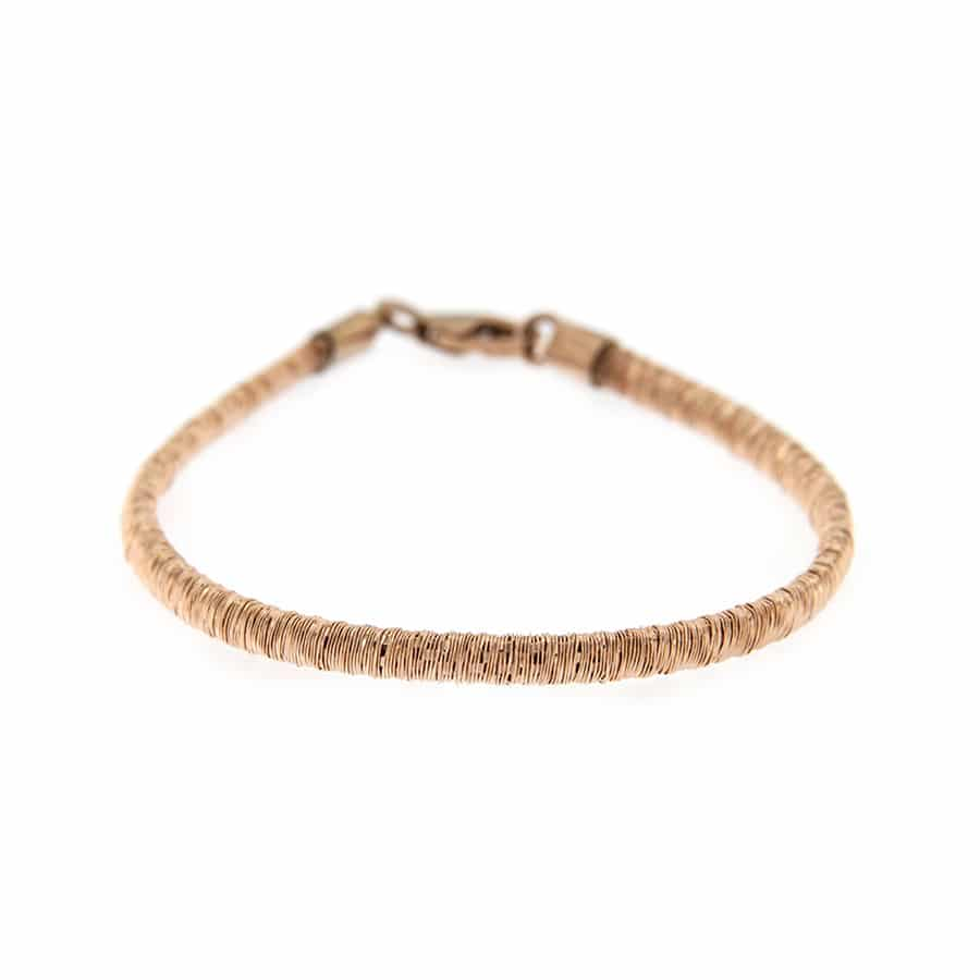 Rose Gold Plated Sterling Silver Flat Bracelet
